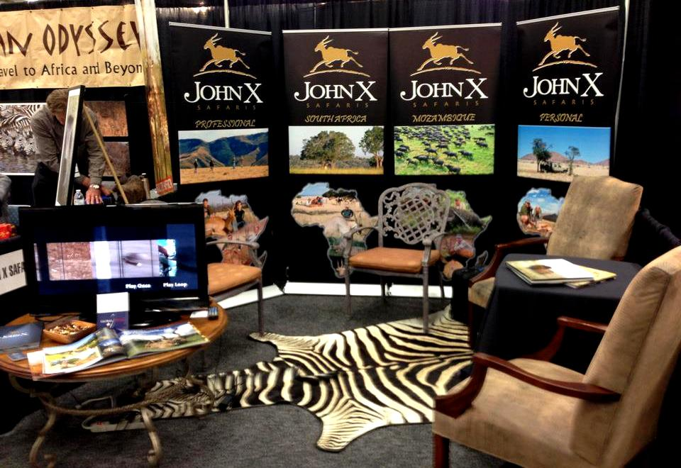 The John X booth in Dallas – ready and welcoming!