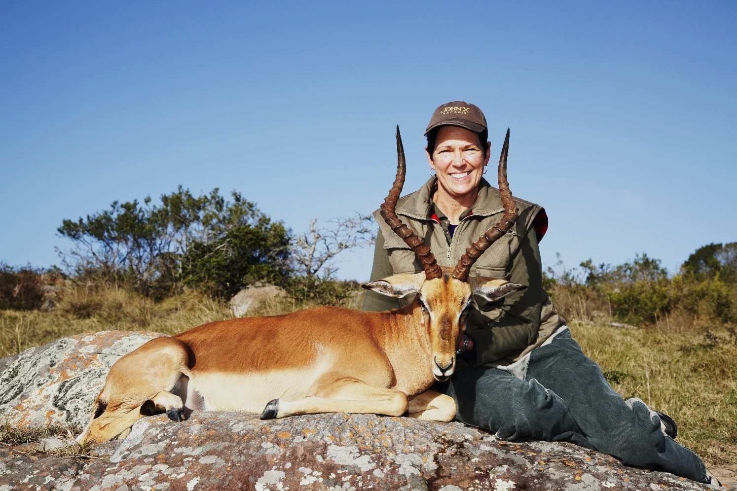Wilson was in my pocket when I became a member of the Safari Sisterhood and took my impala … my first ever game trophy.